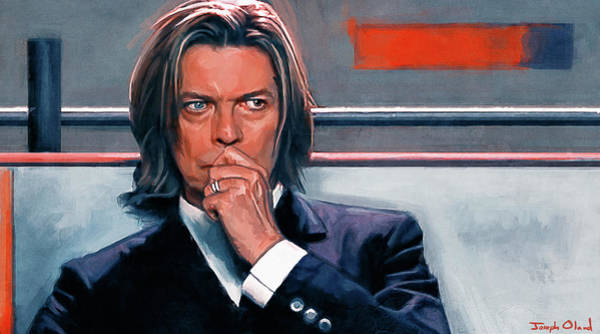 David Bowie Painting - David Bowie - The Space Oddity by Joseph Oland