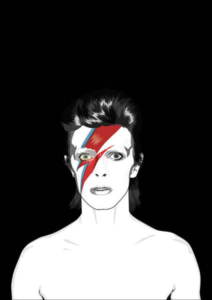Glam Rock Digital Art - David Bowie Tribute by BONB Creative