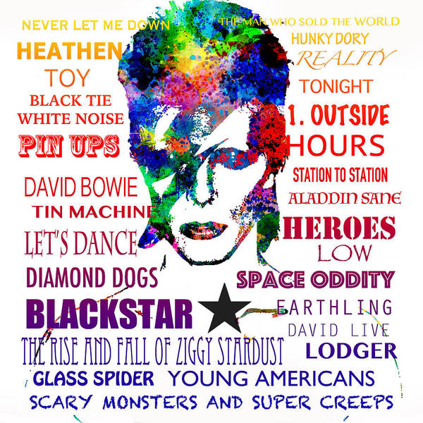 Wall Art - Digital Art - David Bowie Tribute by Patricia Lintner