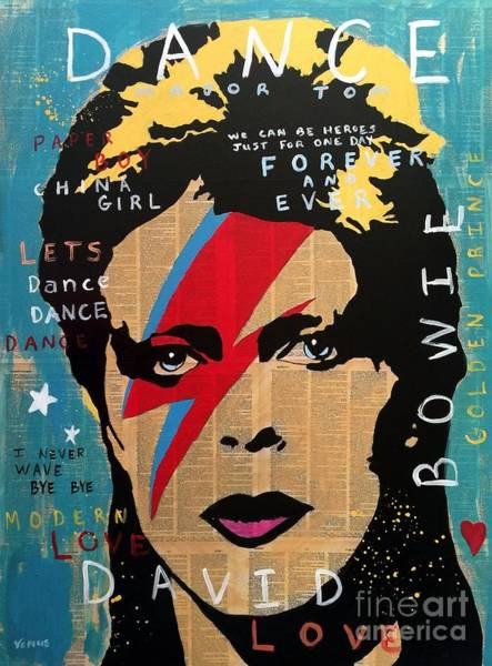 Wall Art - Painting - David Bowie by Venus