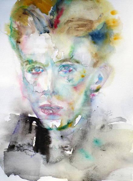 Ziggy Stardust Painting - David Bowie - Watercolor Portrait.10 by Fabrizio Cassetta