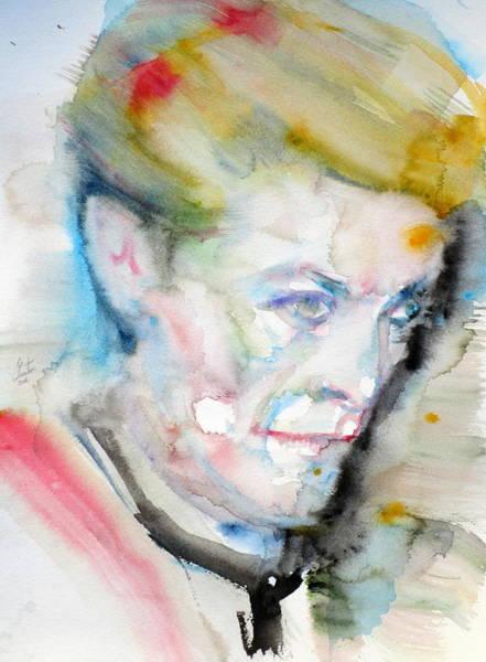 David Bowie Painting - David Bowie - Watercolor Portrait.11 by Fabrizio Cassetta