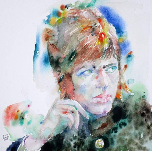 David Bowie Painting - David Bowie - Watercolor Portrait.14 by Fabrizio Cassetta