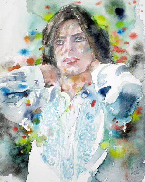 David Bowie Painting - David Bowie - Watercolor Portrait.15 by Fabrizio Cassetta