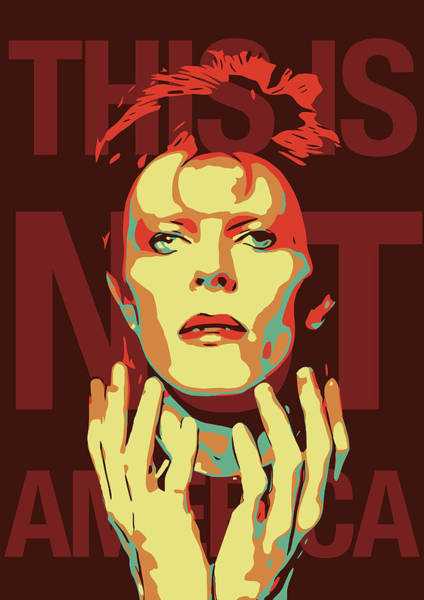 Glam Rock Digital Art - David Bowie by Greatom London