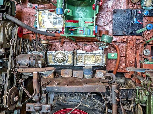 Photograph - David Brown Tractor Side View by Steven Ralser