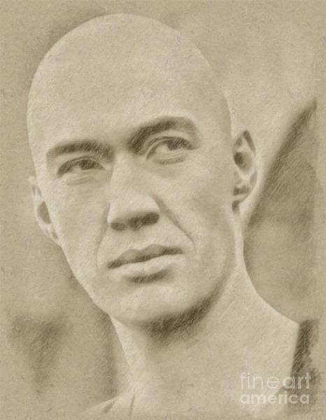 Rock Music Drawing - David Carradine From Kung Fu by Frank Falcon