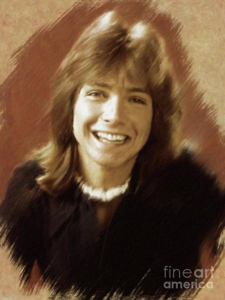 Wall Art - Painting - David Cassidy, Actor by Mary Bassett