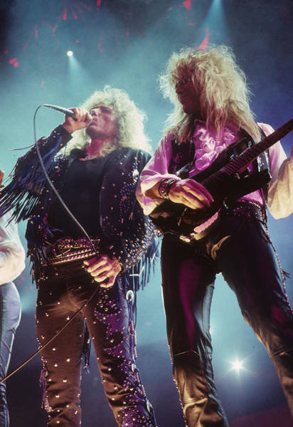 Photograph - David Coverdale And Adrian Vandenberg by Rich Fuscia