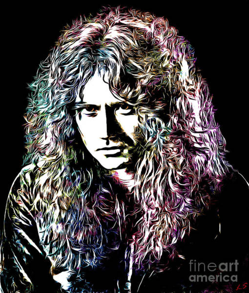 Glam Rock Drawing - David Coverdale Collection - 1 by Sergey Lukashin