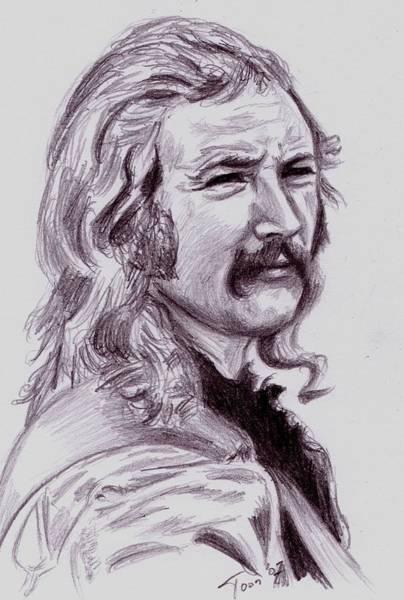 Drawing - David Crosby by Toon De Zwart