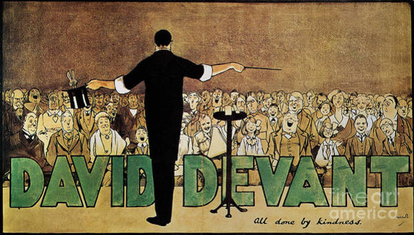 Turn Of The Century Painting - David Devant Poster C1910 by Granger