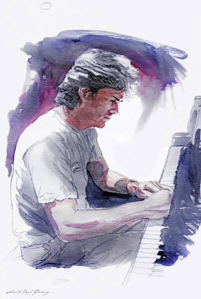 Piano Player Painting - David Foster - Symphony Sessions by David Lloyd Glover