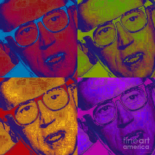 Digital Art - David Frost Pop Art by Jean luc Comperat