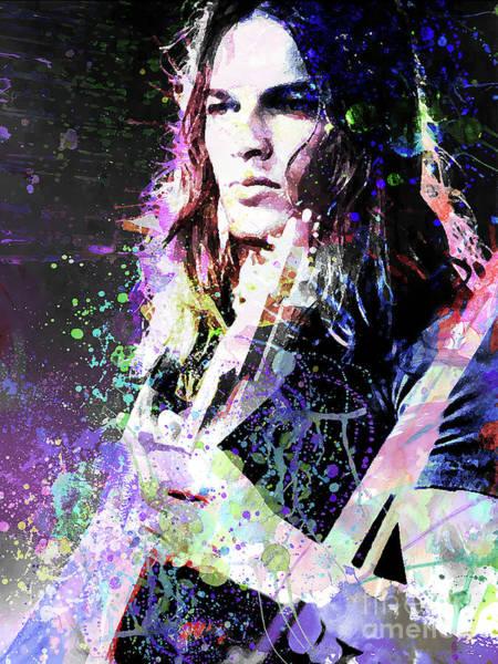 David Gilmour Painting - David Gilmour by Daria Gracheva