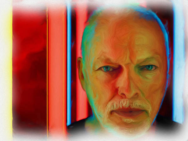 David Gilmour Painting - David Gilmour Red,nixo by Never Say Never