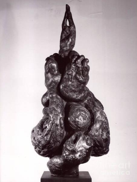 Sculpture - David/goliath by Robert F Battles