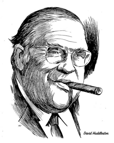 Drawing - David Huddleston by Greg Joens