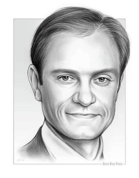 Wall Art - Drawing - David Hyde Pierce by Greg Joens