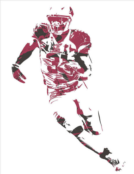 Cardinal Mixed Media - David Johnson Arizona Cardinals Pixel Art 1 by Joe Hamilton