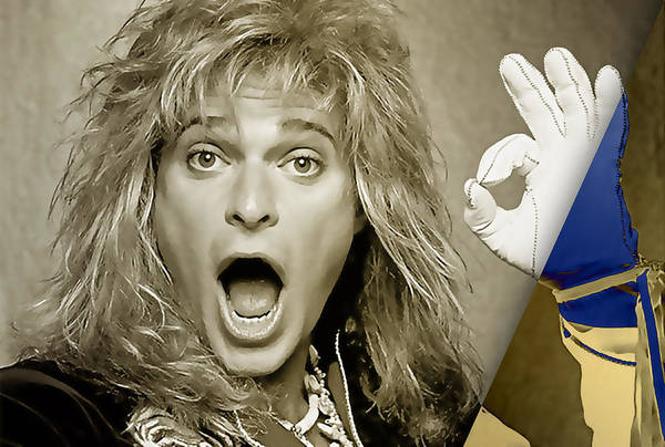 Wall Art - Mixed Media - David Lee Roth Collection by Marvin Blaine