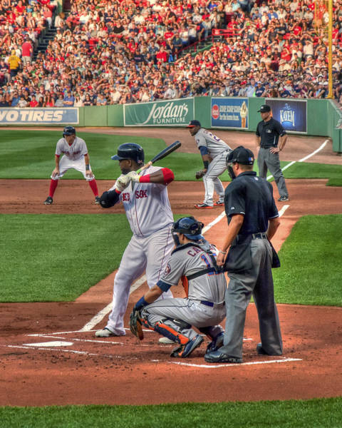 Photograph - David Ortiz - Boston Red Sox  by Joann Vitali