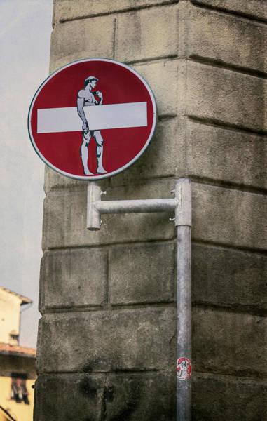 Wall Art - Photograph - David Says Do Not Enter by Joan Carroll