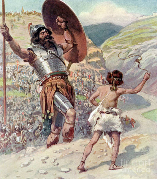 Wall Art - Painting - David Slings The Stone by James Jacques Joseph Tissot