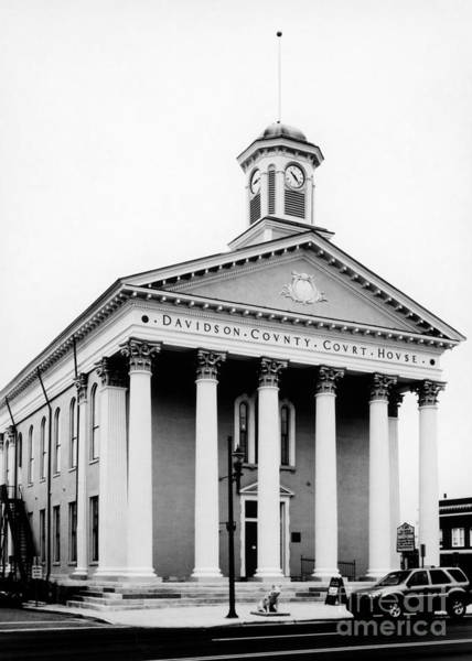 Photograph - Davidson County Courthouse 1 by Patrick M Lynch