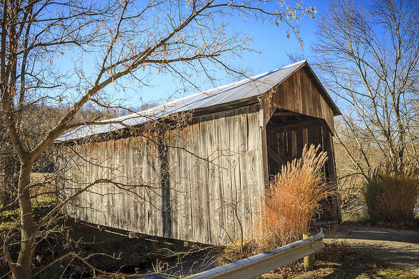 Photograph - Davis Farm Covered Bridge  by Jack R Perry