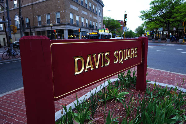 Photograph - Davis Square Sign In Somerville Ma by Toby McGuire