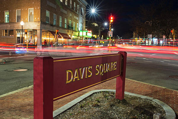 Photograph - Davis Square Sign Somerville Ma by Toby McGuire