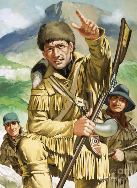 Wall Art - Painting - Davy Crocket by Angus McBride