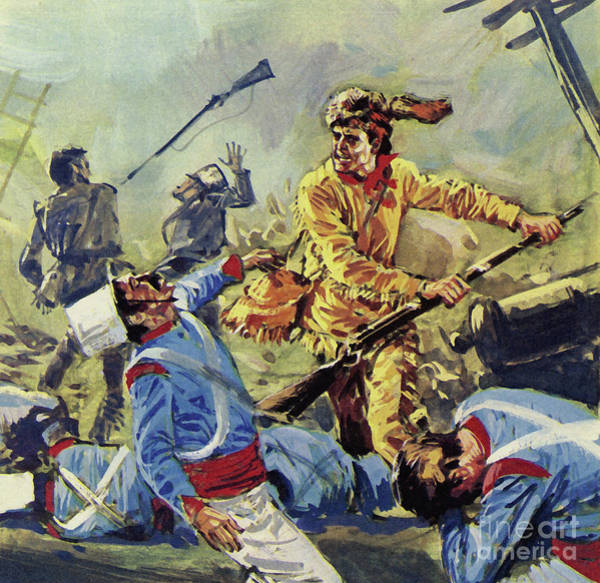 Wall Art - Painting - Davy Crockett Eventually Fell To The Ceaseless Mexican Attacks by Luis Arcas Brauner