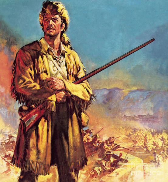 Wall Art - Painting - Davy Crockett  Hero Of The Alamo by James Edwin McConnell