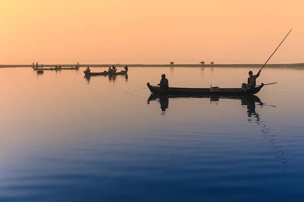 Photograph - Dawn, Amarapura by Marji Lang