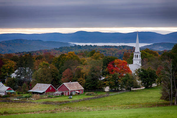 Photograph - dawn arrives at sleepy Peacham Vermont by Jeff Folger