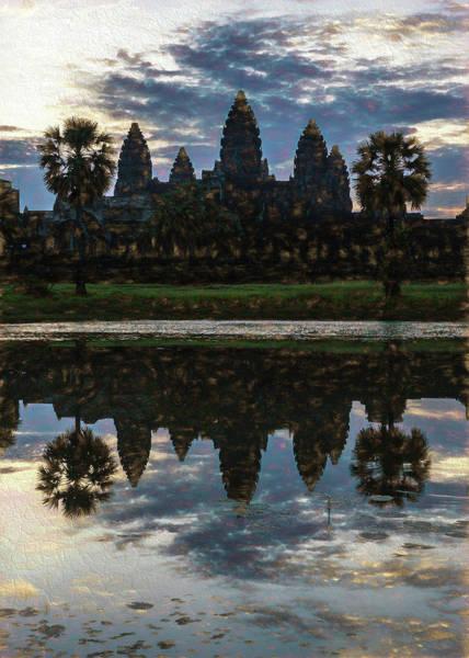 Wall Art - Photograph - Dawn At Angkor Wat by Stephen Stookey