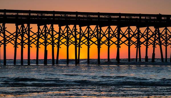 Photograph - Dawn At Folly Beach Pier - Folly Beach Sc by Donnie Whitaker