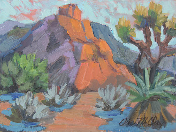 Wall Art - Painting - Dawn At Joshua Tree by Diane McClary