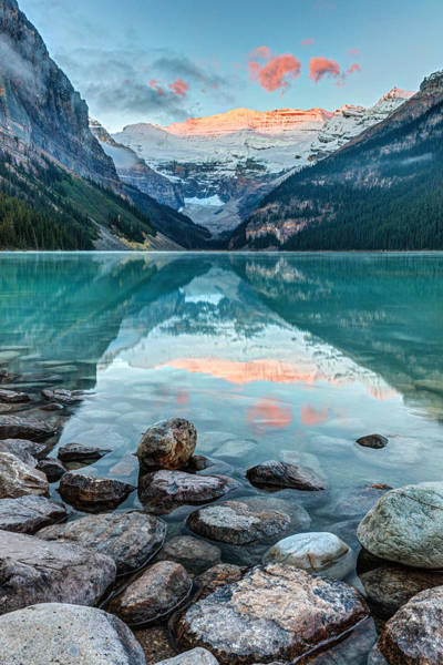 Photograph - Dawn At Lake Louise by Pierre Leclerc Photography
