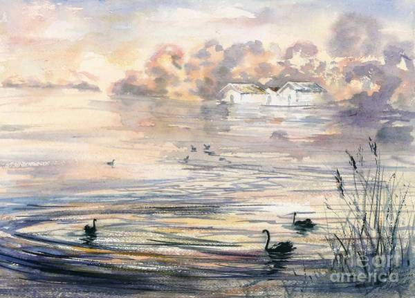 Painting - Dawn At Lake Wendouree by Ryn Shell