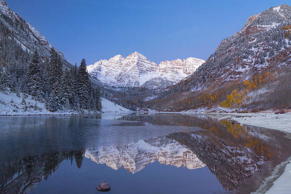 Photograph - Dawn At Maroon Bells 1 by Jemmy Archer