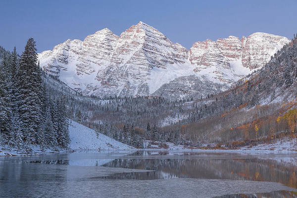 Art Print featuring the photograph Dawn At Maroon Bells 2 by Jemmy Archer