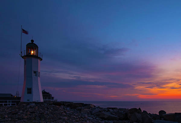 Photograph - Dawn At Scituate Light by John Forde