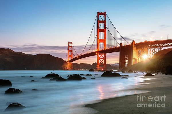 Wall Art - Photograph - Dawn At The Golden Gate Bridge, San Francisco, California, Usa by Matteo Colombo
