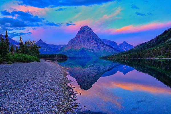 Photograph - Dawn At Two Medicine Lake by Greg Norrell
