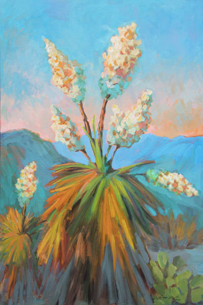 Painting - Dawn At Yuccaland by Diane McClary