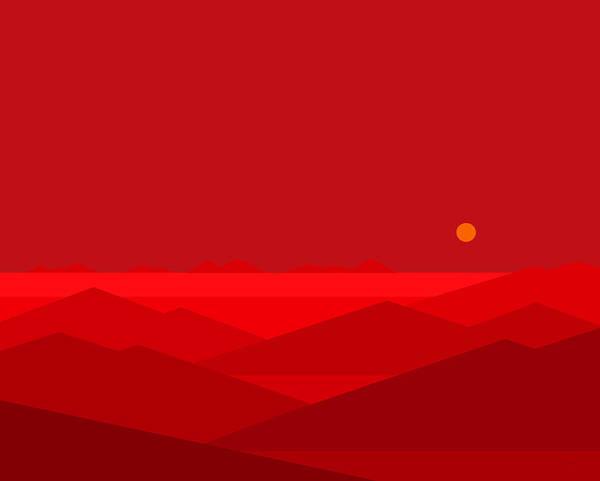 Digital Art - Dawn Breaks In Red by Val Arie
