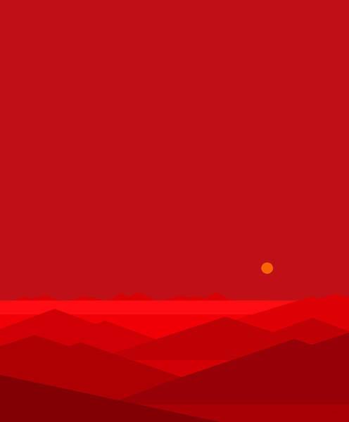 Digital Art - Dawn Breaks Red by Val Arie